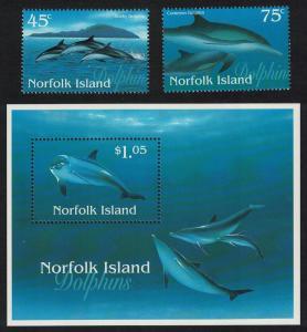 Norfolk Dolphins 2v+MS SG#640-MS642