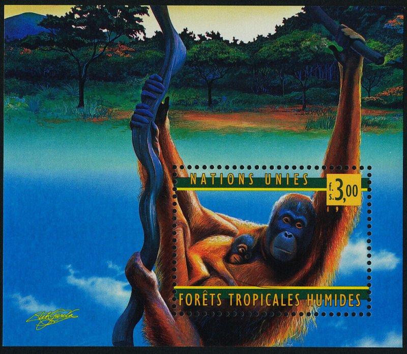 United Nations Geneva MNH S/S 324 Rain Forest Orangutans 1998