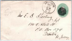 Goldpath: US cover 1891, BELVIDERE, N.J.   _CV28_P14
