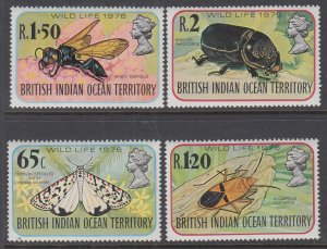 British Indian Ocean Territory 86-89 Insects MNH VF