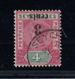 Seychelles, SG 15a (Sc 22a), used Surcharge Inverted variety, w/ BPA cert