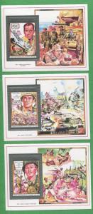 Errol Flynn Humphrey Bogart Henri Fonda WW2 Stamp Sheet Set Comoro Islands E4-6
