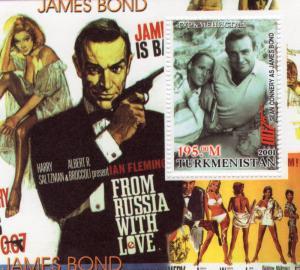 Turkmenistan 2001 JAMES BOND (Sir Sean Connery)  Icons 20th.Century S/S MNH