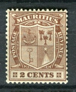 MAURITIUS; 1921-26 early GV issue Mint hinged Shade of 2c. value
