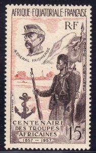 French Equatorial Africa - Scott #C43 - MLH - Glazed gum - SCV $3.50