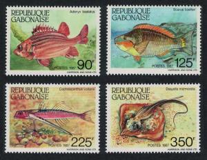 Gabon Fishes 4v SG#966-969