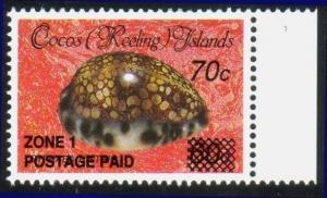 COCOS IS 1990 70c Shell emergency overprint MNH............................13469