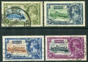 NORTHERN RHODESIA-1935 Silver Jubilee Set Sg 18-21 FINE USED V35946