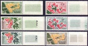 Gabon. 1961. 160-65. Flowers flora. MNH.