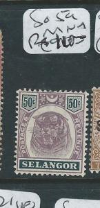 MALAYA SELANGOR (P0510B) 50C TIGER SG 59  MNH