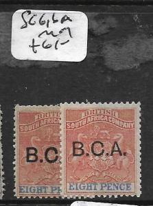 BRITISH CENTRAL AFRICA (PP1009B) BCA SURCH 8D  SG6, 6A    MOG
