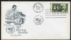 United States 1959 Dental Health on illustrated cover wit...