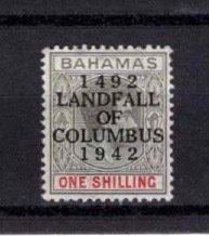 Bahamas 1942 1/ Optd. 450th Anniversary of Landing of Columbus [Unused]
