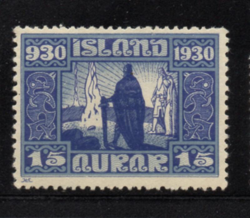 Iceland Sc 156 1930 15 aur 1000th Anniversary Althing stamp mint