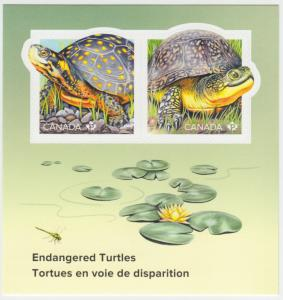 Canada - #3179 Endangered Turtles Souvenir Sheet  - MNH