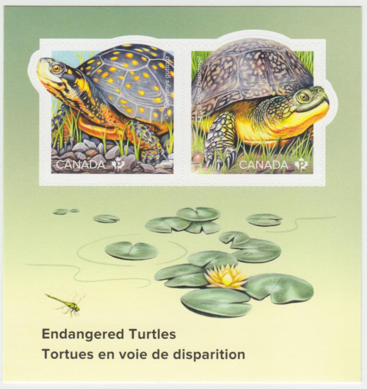 Canada - #3179 Endangered Turtles Souvenir Sheet  - MNH