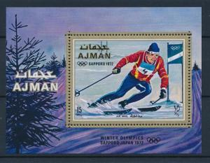 [42999] Ajman 1970 Olympic Winter Games Sapporo Skiing MNH Sheet