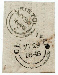 (I.B) QV Postal : Early Postmark (Cuckfield - Bristol)