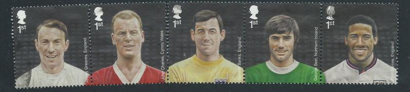 GB  QE II  SG 3463a  3463 - 3467 football heroes