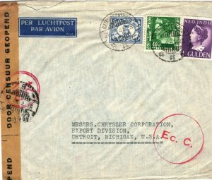 DUTCH EAST INDIES WW2 Cover One of LAST PAA FLIGHTS Before Invasion 1941 SQ12