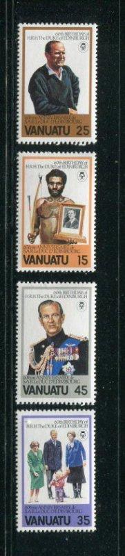 Vanuatu MNH 304-7 60th Birthday Duke Of Edinburgh