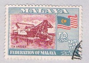 Malaya Federation 82 Used Tin dredge (BP2246)