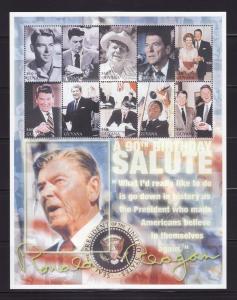 Guyana 3649 Set MNH President Ronald Reagan