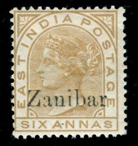 MOMEN: ZANZIBAR STAMPS SG #13k 1895-6 MINT OG H ZANIBAR ERROR CERT
