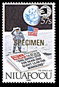 Niuafo'ou 122, MNH, 20th Anniversary of Moon Landing, Specimen