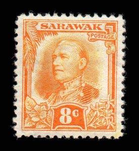 Sarawak 1932 KGV 8c orange-yellow SG 97 mint