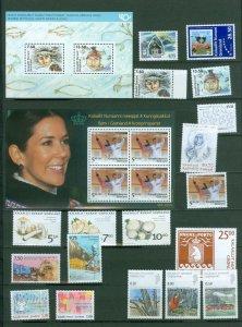 Greenland. 2006 Lot. MNH. 18 Stamps. 2 Souvenir Sheet.