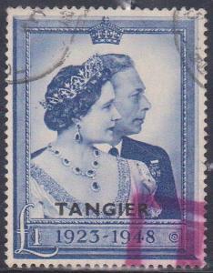 GB-Tangier 2015 Scott #526 Used Cat. $29.00 1948 One Pound Silver Wedding