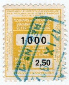 (I.B) Belgium Railways : Parcel Insurance 2.50Fr