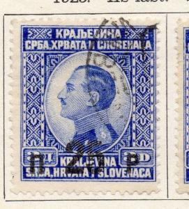Yugoslavia 1925 Early Issue Fine Used 25p. Surcharged 086633