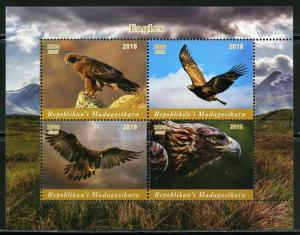 MADAGASCAR  2018  EAGLES  SHEET OF FOUR  MINT NEVER HINGED
