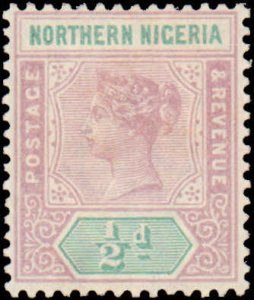 Northern Nigeria #1, Incomplete Set, 1900, Hinged