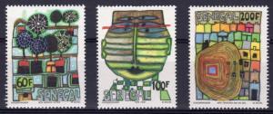 Senegal 1979 Sc#512/514 Paintings by F.Hundertwasser Set (3) MNH