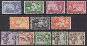 Cayman Islands 1938-1943 SC 100-111 Perf Specimen MNH Set