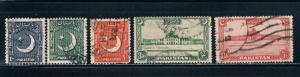 Pakistan 47-49;36;50 Used (P0033)