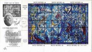 1967 FDC, #179 (NY), Chagall Window S/S, Art Craft