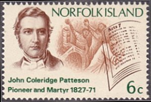 Norfolk Island # 144 mnh ~ 6¢ Bishop Patteson and Open Bible