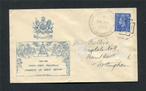 1949 PHILATELIC CONGRESS COVER IN BLUE