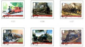 Isle of Man  Sc 1022-7 2004 Steam Locomotive stamps used