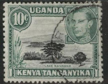 Kenya Uganda and Tanganyika KUT Scott 70 Used perf 13x11.5