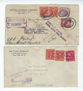 4 INTERESTING REGISTERED MAIL COVERS FROM THE 1930s - Q164