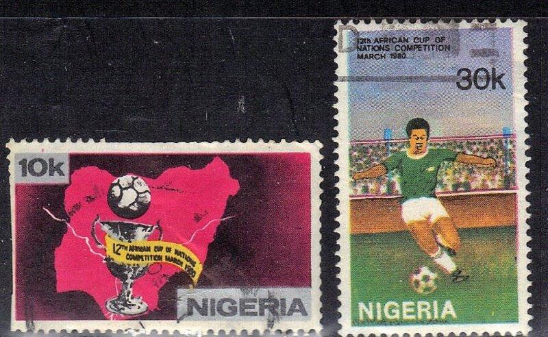 NIGERIA SC# 383+84  *USED* 10,30k  1980    SEE SCAN