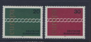 GERMANY. -Scott 1064-65 - Europa- 1971- MNH - Set of 2 Stamps