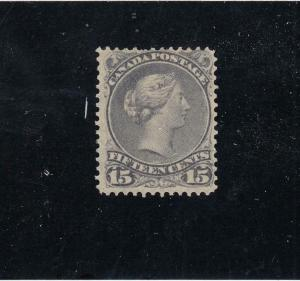 CANADA # 30 MH 15cts GREY LARGE QUEEN CAT VALUE $1200