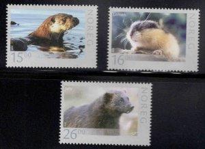 Norway Scott 1600-1602, 2010 MNH** Wildlife set CV $19.75