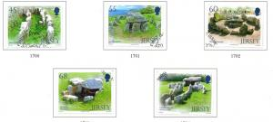Jersey Sc 1627-1 2012 Archaeology Dolmens stamp set used